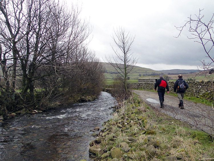 Following Marsett Beck towards Semer Water
