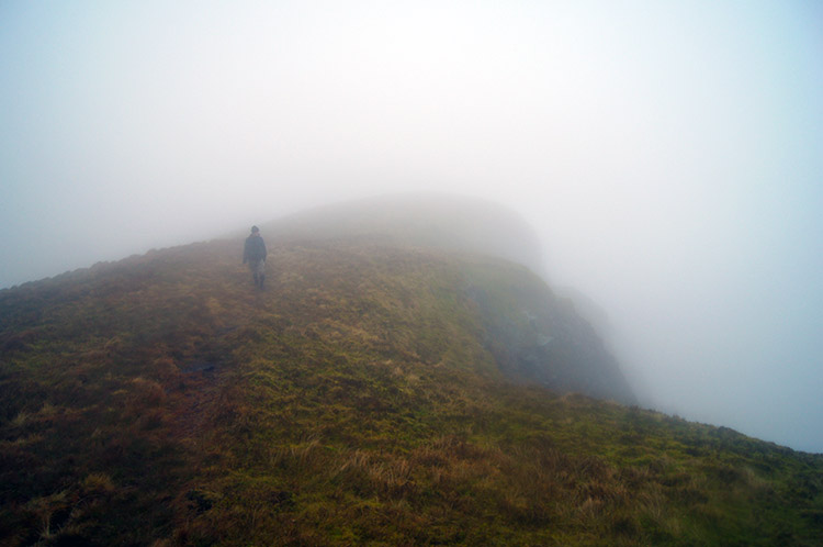 Walking towards Great Dummacks above Cautley Crag