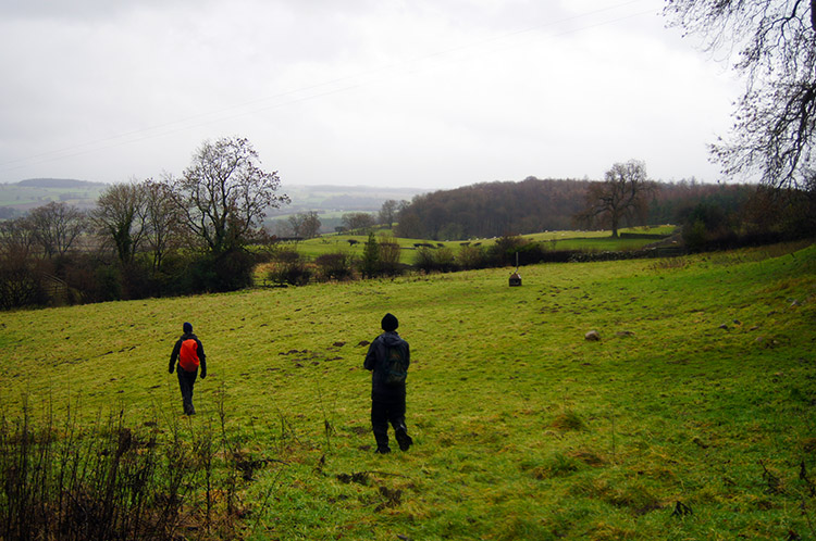 Crossing fields south of High Jervaulx