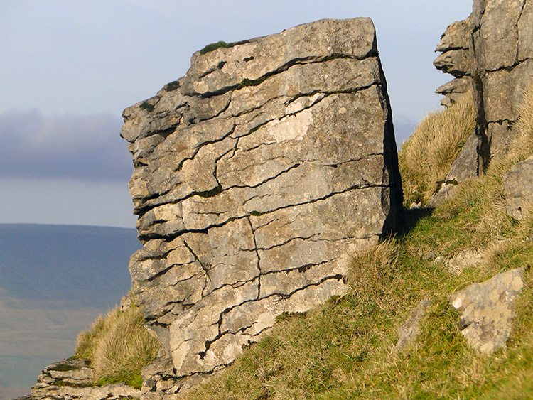 Rock stack on Ingleborough