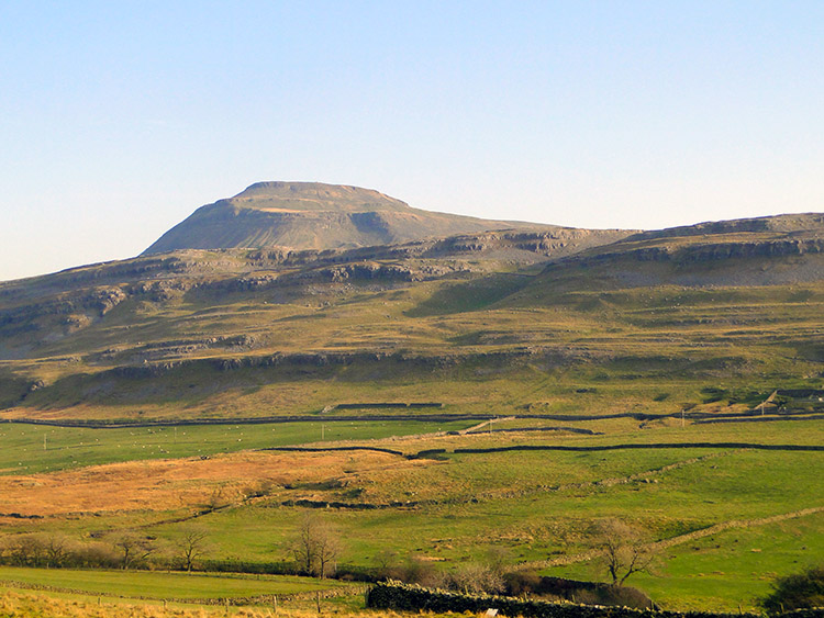 The view to Ingleborough from Twisleton