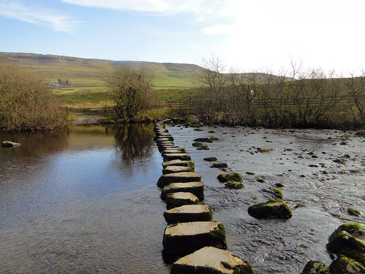Stepping stones over the River Doe