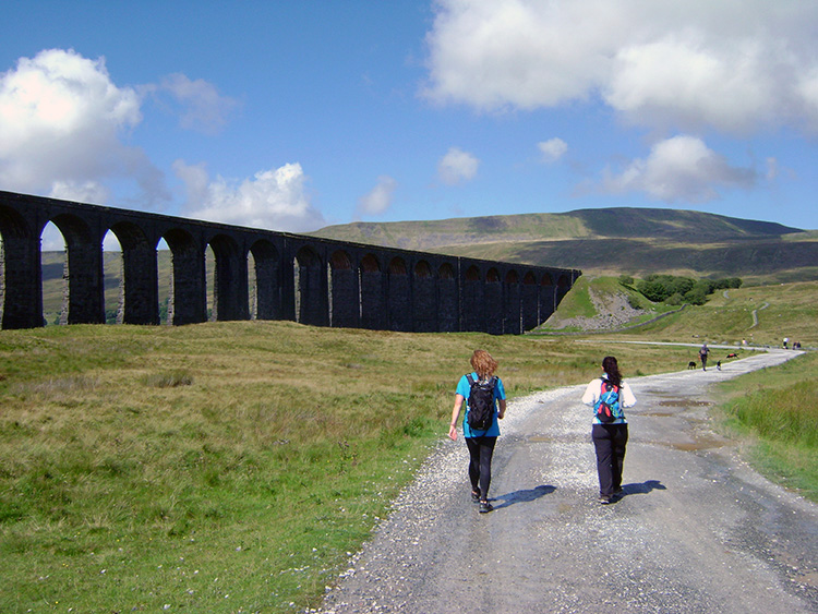 Setting off towards Ribblehead Viaduct