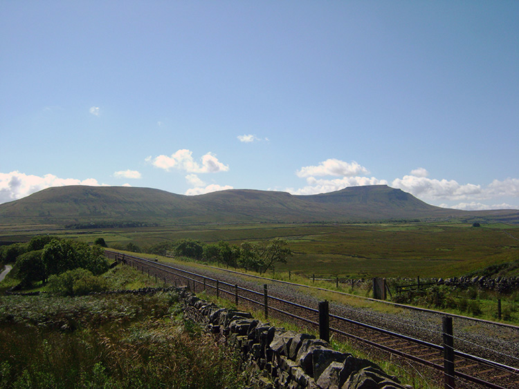 View of Ingleborough from Blea Moor