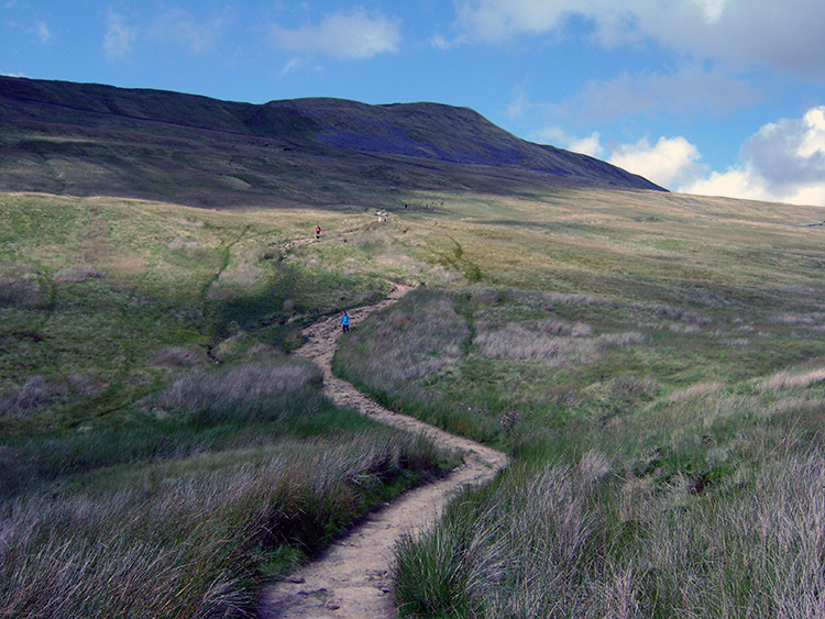 Looking back to Whernside