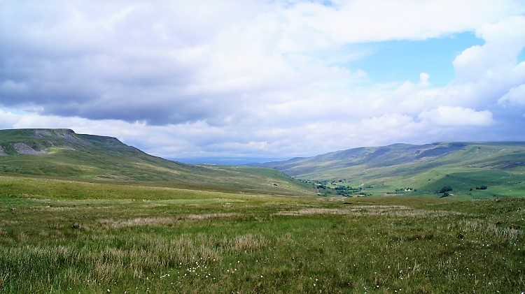 View back to Wild Boar Fell and Mallerstang