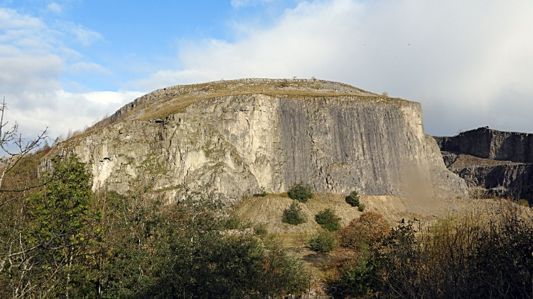 Limestone cliff of Giggleswick Quarry