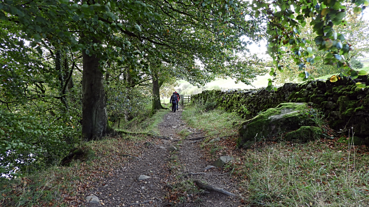 Following the path leading back to Giggleswick