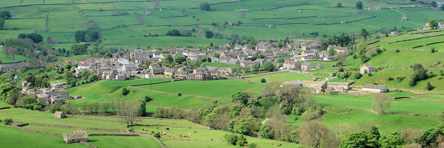 Reeth as seen from Fremington Edge