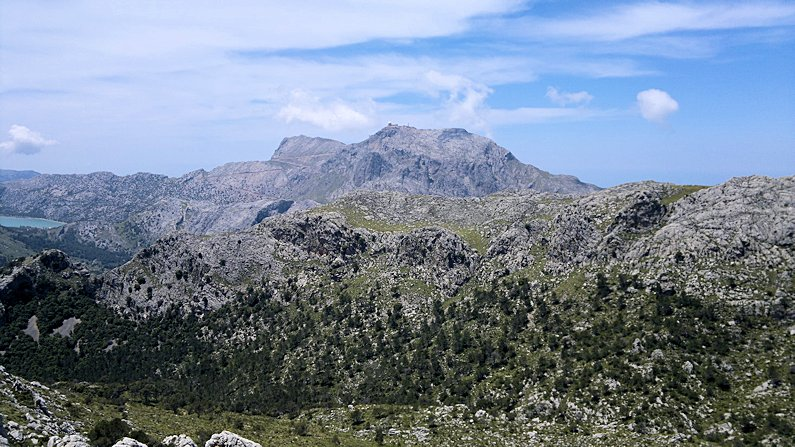At 1,445m  Puig Major, Mallorca's highest mountain is higher than Ben Nevis