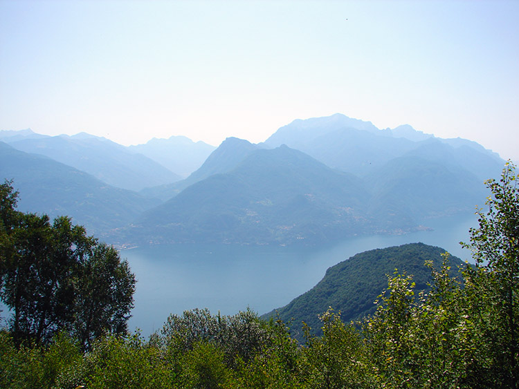 Looking down to Lake Como