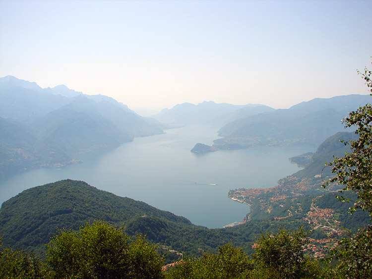 Lake Como as seen from the slopes of Monte Grona