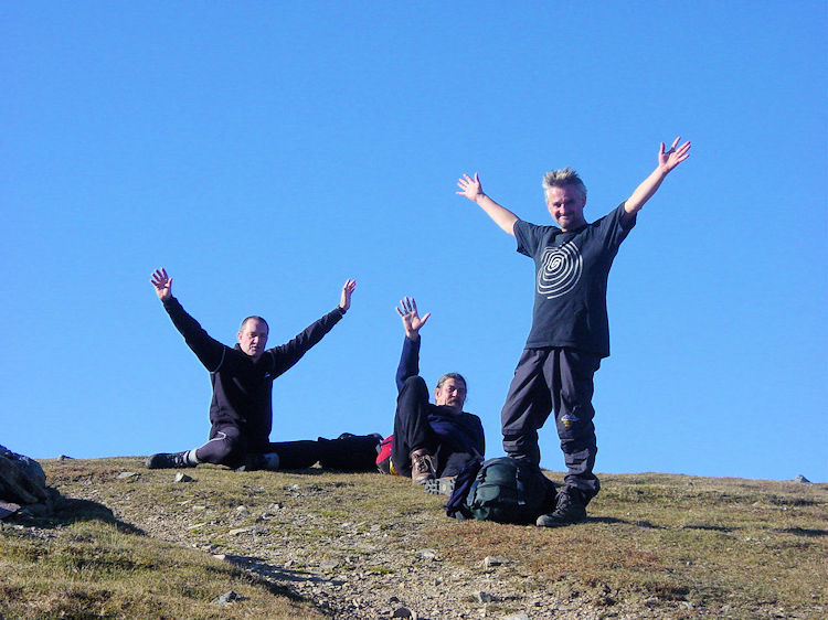 Celebrating on Scafell