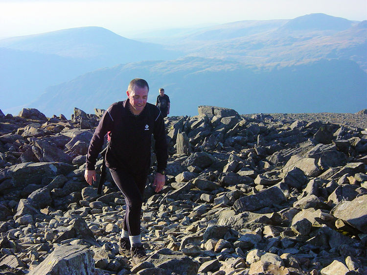 Walking to the summit of Scafell Pike