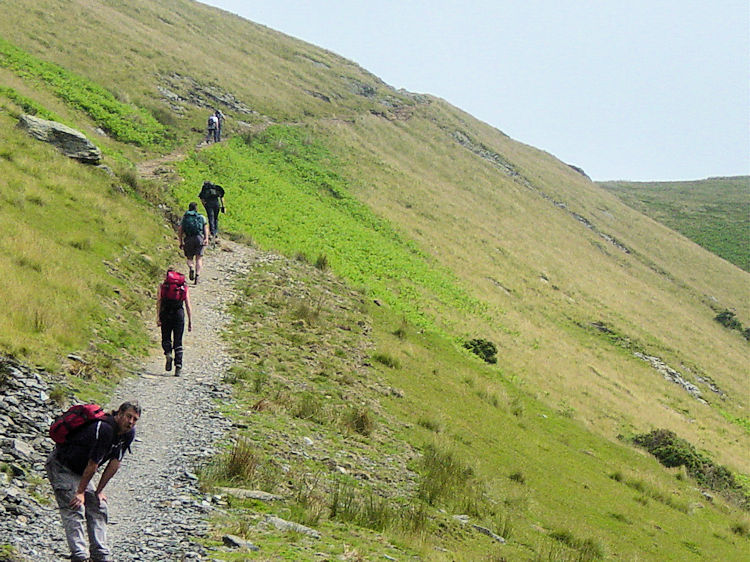 Steep climb to Mousthwaite Comb