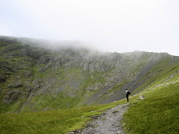 Cloud spilling over Sharp Edge