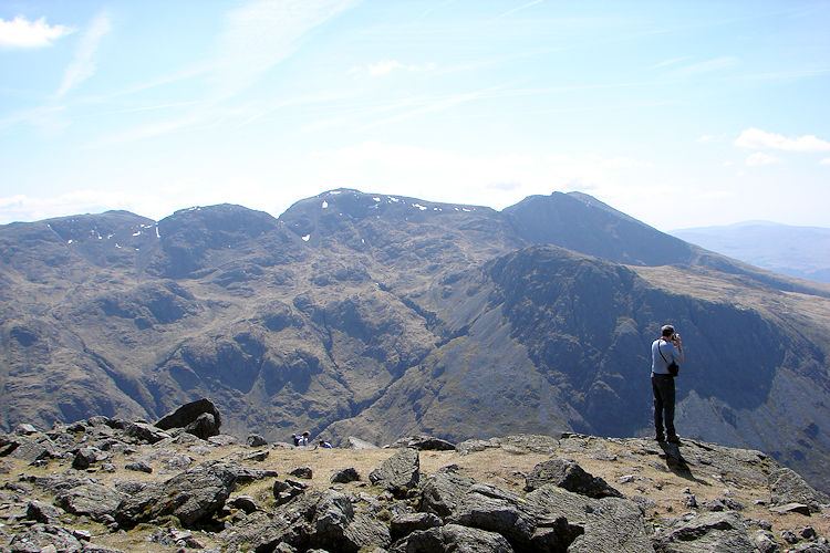 View to Scafell Pike from Great Gable
