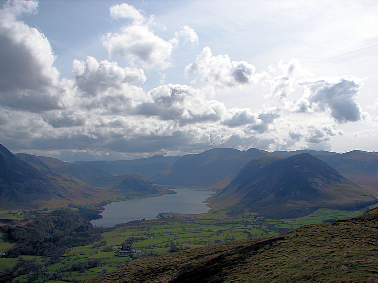 Crummock Water and Mellbreak from Low Fell