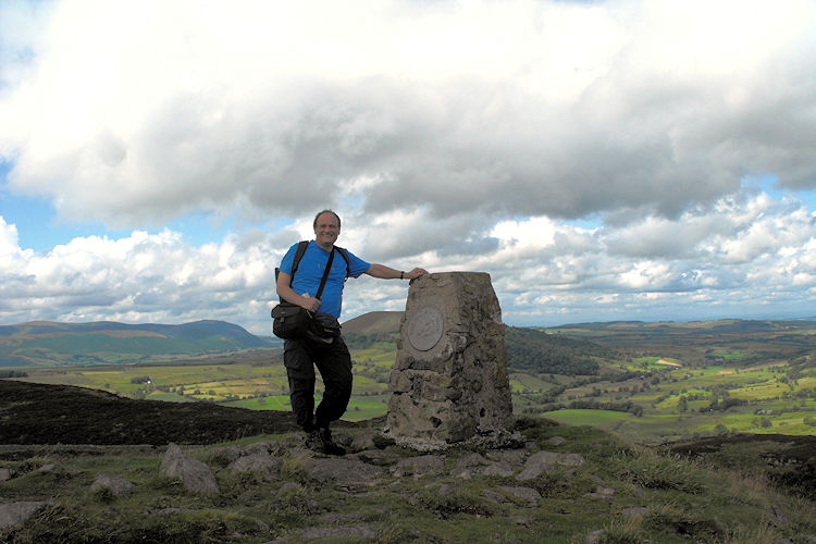 On the summit of Gowbarrow Fell