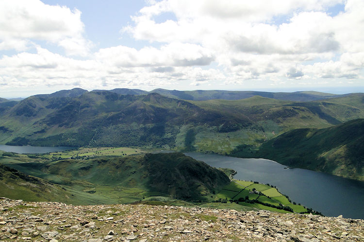 Grasmoor view to Crummock Water and Buttermere