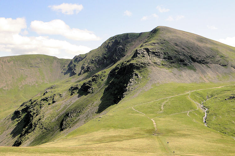 Looking back to Crag Hill from Coledale Hause