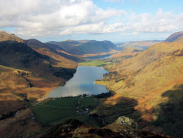Buttermere from the summit of Fleetwith Pike