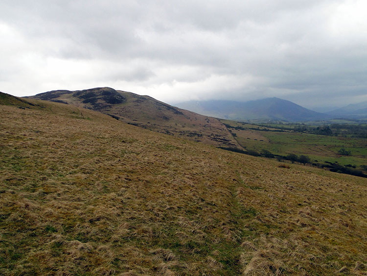 The western Lakeland mountains from near Binsey