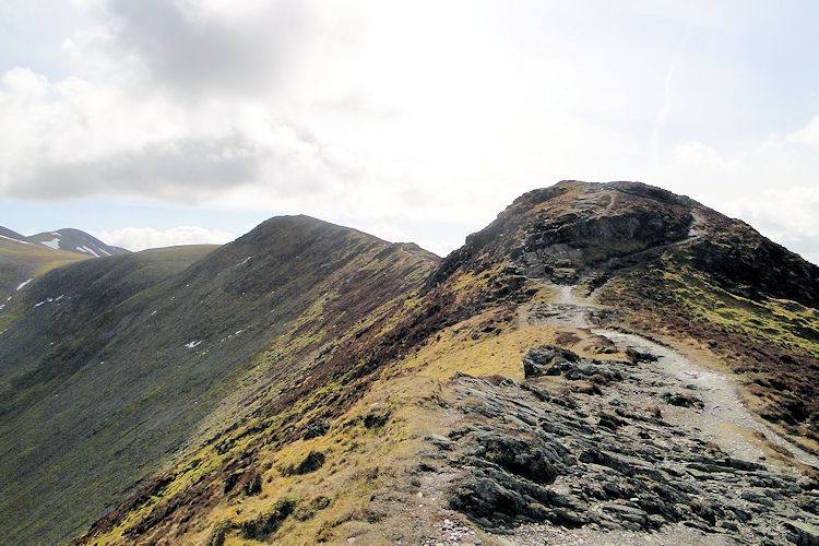The ridge approach to Skiddaw from Ullock Pike