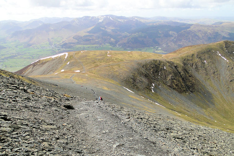 Looking back from Skiddaw to Carl Side