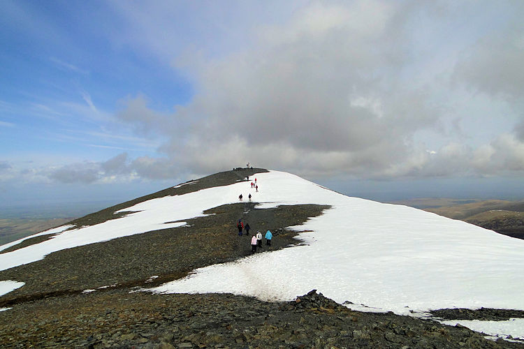 The top plateau of Skiddaw