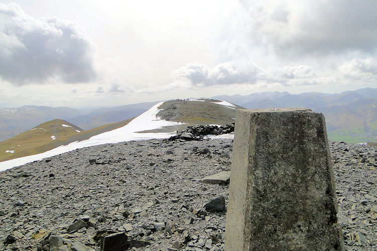 Little Man as seen from Skiddaw trig point