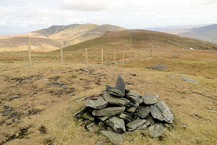 The cairn on Lonscale Fell