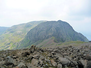 An awesome view of Scafell from Scafell Pike