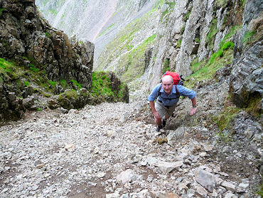 The intrepid John Deasey ascends Lord's Rake