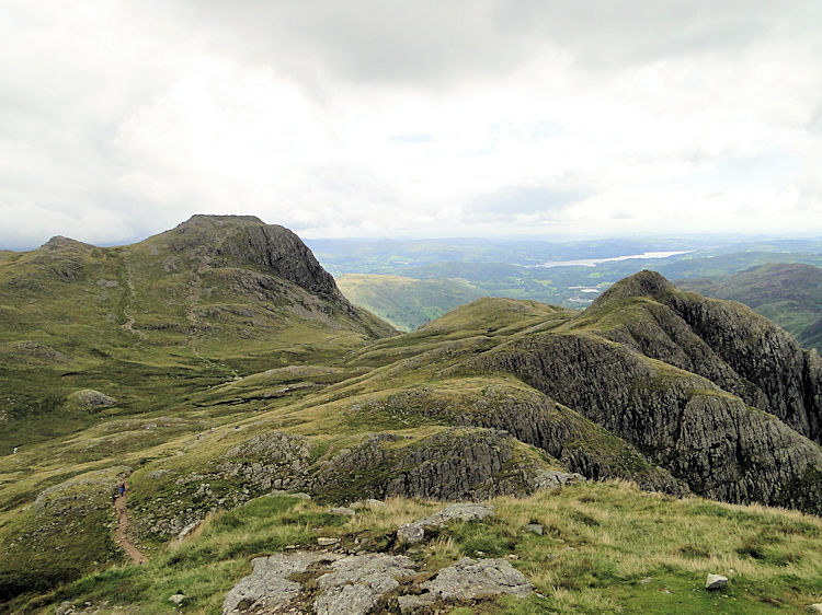 Loft Crag and Harrison Stickle from Pike Of Stickle