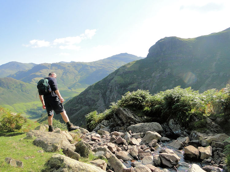 Stepping over Stickle Ghyll