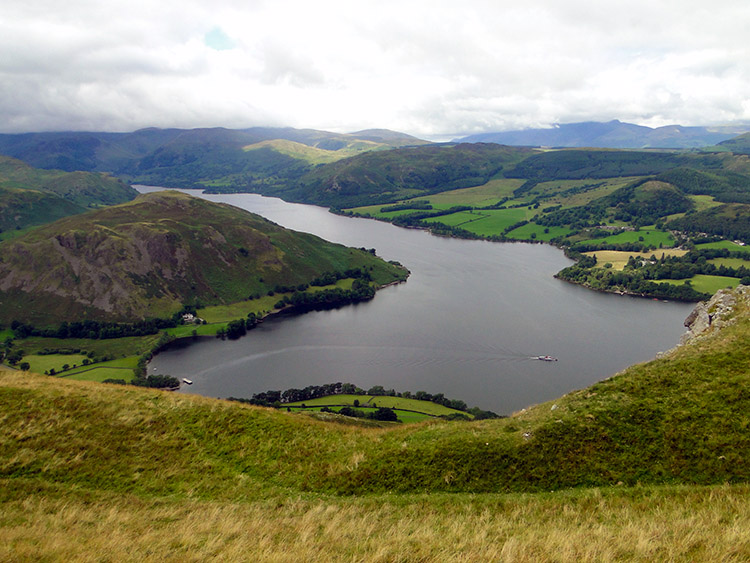 The view of Ullswater from Arthur's Pike