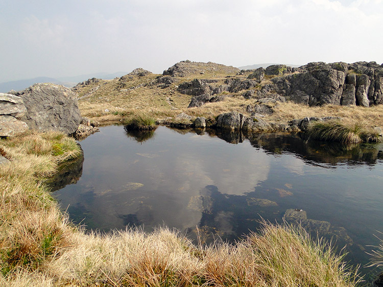The delightful tarn on Little Hart Crag