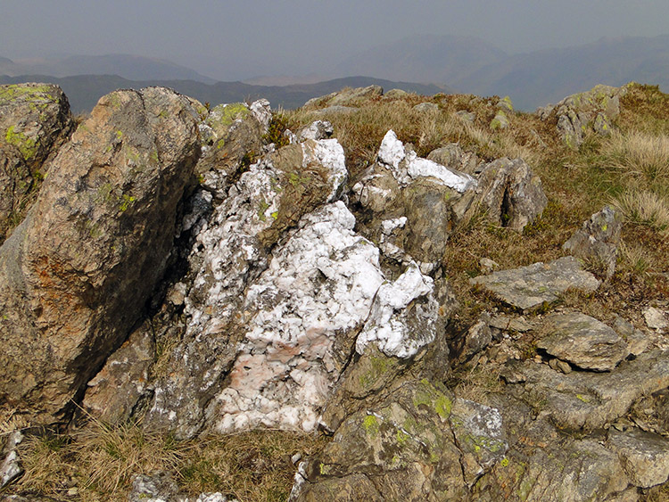 Marbled stone on Little Hart Crag