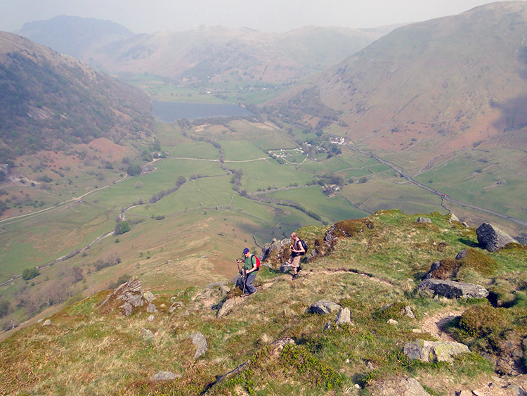 Shucks, it is a steep descent from High Hartsop Dodd