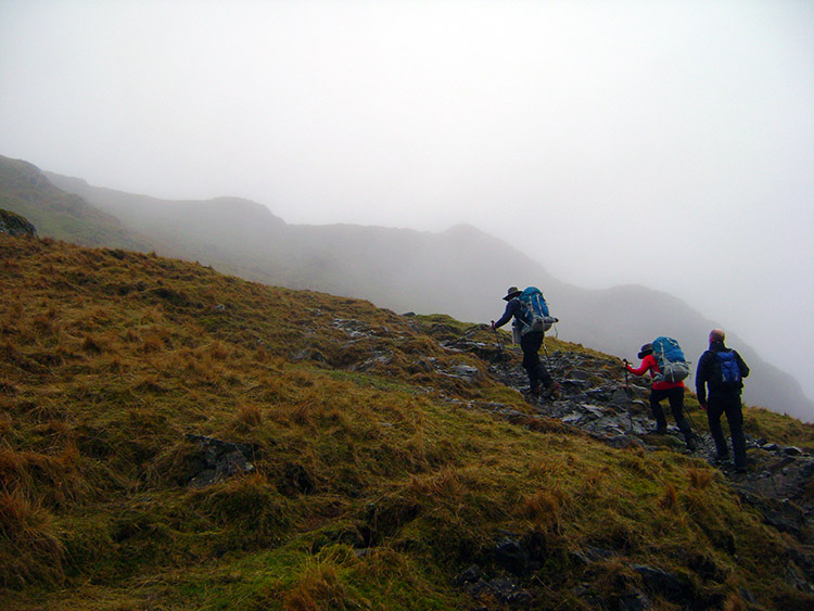Hauling ourselves up at High Crags