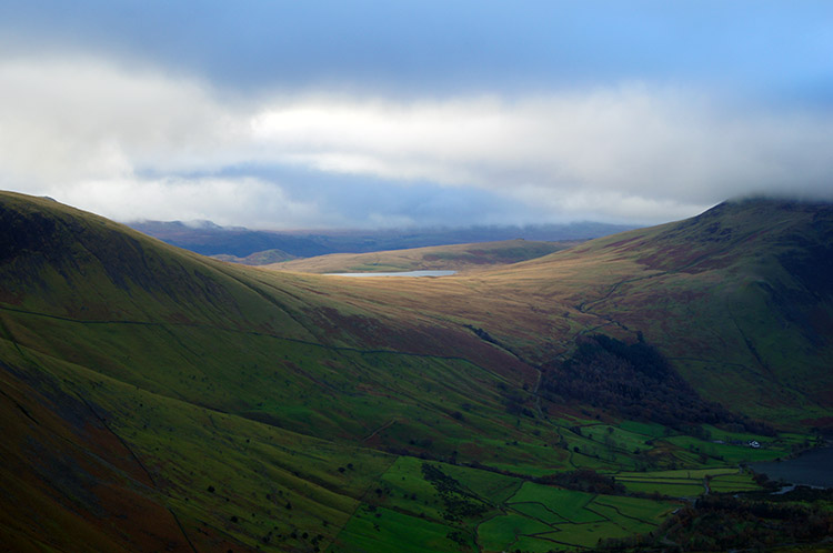 Lower west of Scafell, Burnmoor Tarn and Illgill Head