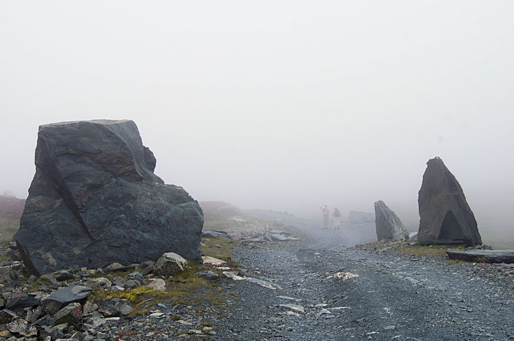 Rock Sentinels by Honister Dismantled Tramway