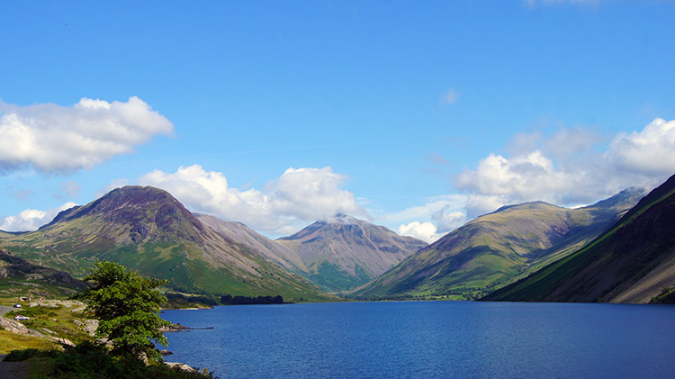 Classic view of Wast Water and Wasdale Head
