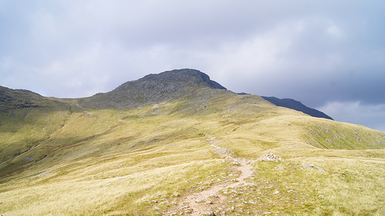 Path to the Col of Crinkle Crags and Bowfell