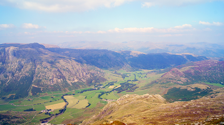 View of Great Langdale from Pike of Blisco