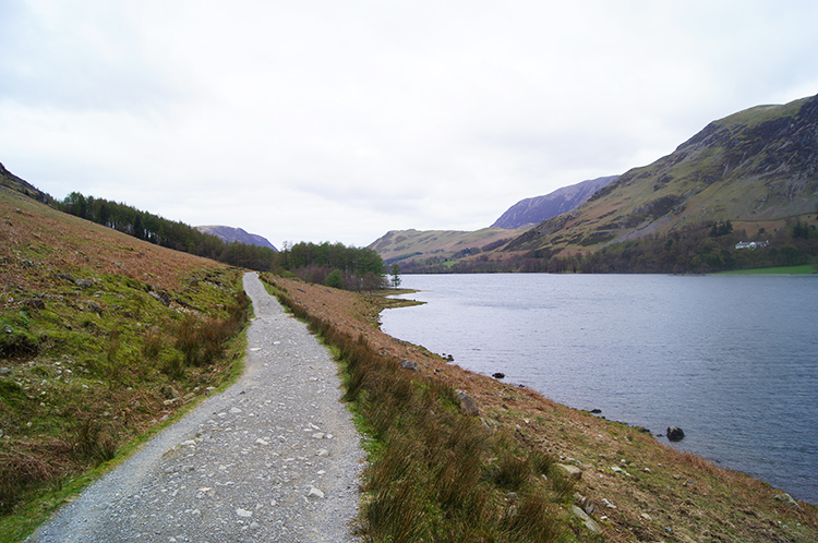 Walking alongside Buttermere