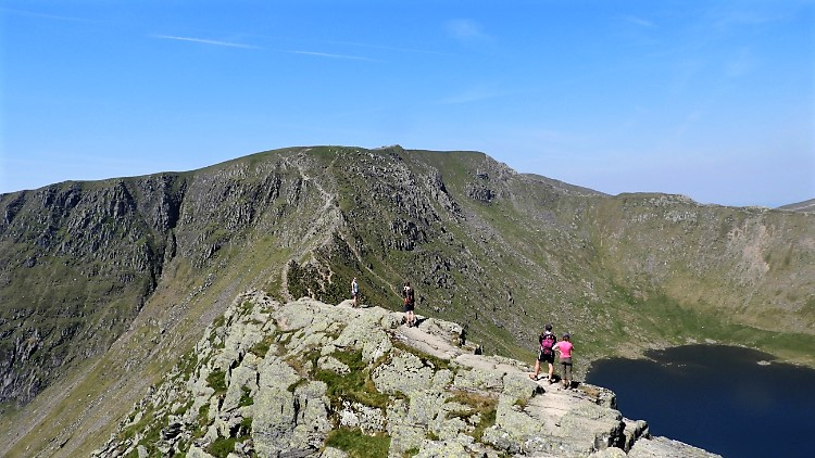 Beginning of Striding Edge at Bleaberry Crag