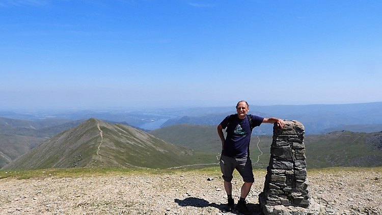 Happy on Helvellyn