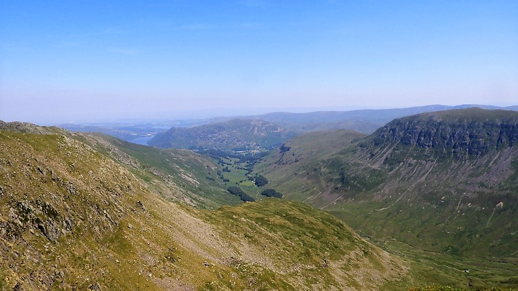 The view looking east from near Nethermost Pike